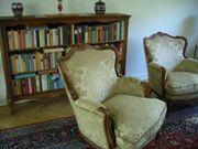 Chippendal-Couchgarnitur mit passendem Bücherbord