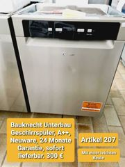 Bauknecht Unterbau Geschirrspüler A Neuware