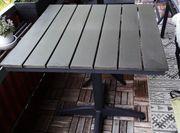 Gartentisch - Balkon Aluminium Grau