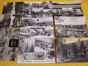 250 alte DDR Ansichtskarten schwarz