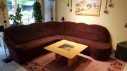 Bequeme Couch mit Alcantara