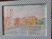 Aquarellbild Torre Apponale