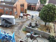 Diorama Bauernhof Reiterhof Tunierplatz H0
