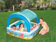 Neu Kinder-Pool Planschbecken mit Sonnendach