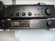 Stereoanlage schwarz aus 5 Komponenten