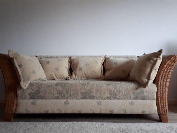 Elegantes Rattan Sofa 3-Sitzer in
