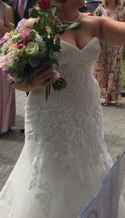 Wunderschönes italienisches Brautkleid Perlmuttfarben