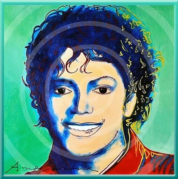 Original MICHAEL JACKSON Kunstwerk signiert