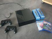 Playstation 4 mit diversen Spielen