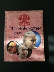 Vatikan Euro Probeprägungssatz vom Papst