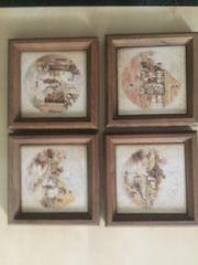 Fliesenbilder klein mit Holzrahmen