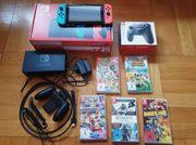 Nintendo Switch Konsole 5 Spiele