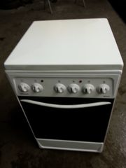 Elektro Standherd weiß sauber Deckel