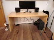 IKEA Malm ausziehbarer Schreibtisch Birke