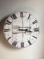 Uhr Wanduhr Küchenuhr BESTECK Bistro