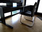Büro-Set hochwertig Schreibtisch Stuhl Schränkchen