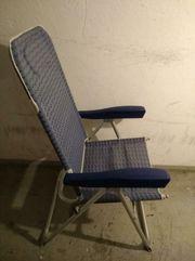 Liegestuhl Campingliege Campingstuhl leichter Alu