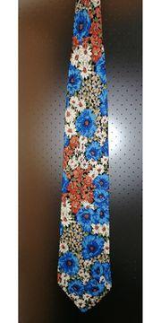 Florale Krawatte 100 Seide CARNAVAL