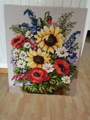 Gobelinbild Sonnenblumenstrauß