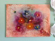 Bunte Blumen Gemälde 81 5cm
