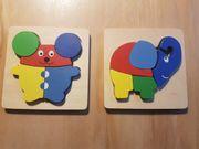 Holzpuzzle Puzzle Holz Maus Elefant