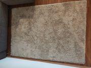 Hochflorteppich 140x200 cm beige