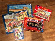 Spielepaket Feuerwehr Polizei Bauarbeiter