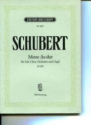 Schubert Messe Es-dur Breitkopf Nr