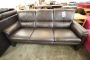 Sofa Couch aus Leder schwarz -
