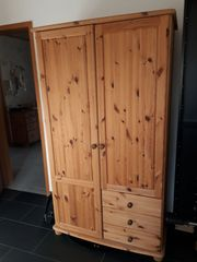 Kinderkleiderschrank Kleiderschrank Kiefer massiv Naturholz