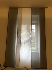 Schiebevorhangsystem mit 3 Vorhängen