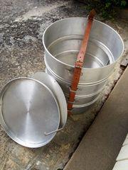 4-teiliger Transportbehälter Aluminium mit 4