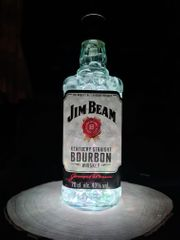 Jim Beam Upcycling Flaschenlampe Dekolampe