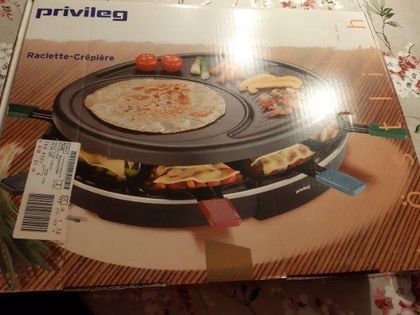 Raclette und Crepiere set