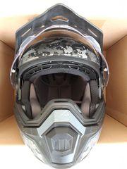 Motorradhelm Scorpion ADX-1 Battleflage black-silver