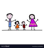 4 Köpfige Familie 3 -4