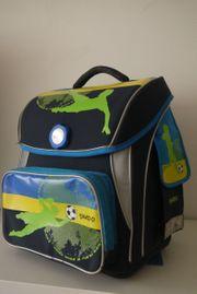Schulranzen Büchertasche JAKO-O blau Fußballmotiv