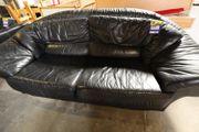 Ledersofa schwarz 230 breit - HH14093