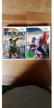 Wii - 2 Spiele - Hulk u Spider-Man