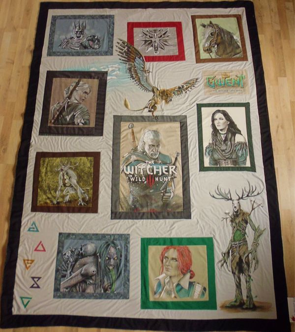 The Witcher 3 Designerdecke - Handbemalt -