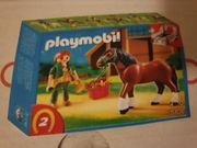 Playmobil Shire Horse mit rot-grauer