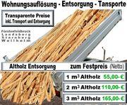 Altholz Abfälle Entsorgung entsorgen Starnberg
