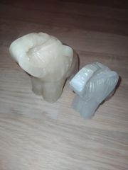 2 Herna Alabaster Elefanten Made