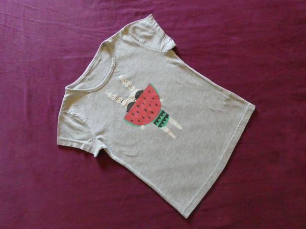 Mädchen T-Shirt Grau mit Print