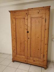 Antik Weichholz Schrank Kleiderschrank Garderobe