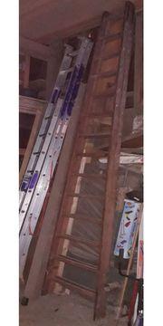 Stehleiter aus Holz 4m lang