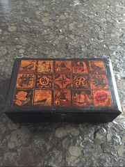 Willem II Zigarrenkästchen Holz Vintage