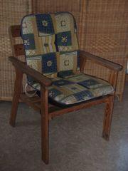 Garten Sessel Holz Stuhl Balkon