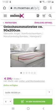 2 neue gelschaum matratze 90x200