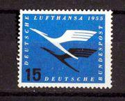 Briefmarken BRD 1955 Lufthansa 15